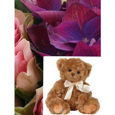 Bouquet + Teddy Bear
