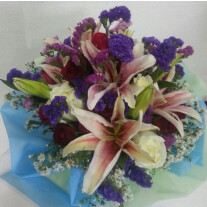 Funeral/Sympathy Bouquet in mixed colours