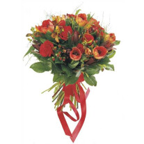 Bouquet of Mixed Cut Flowers (red)